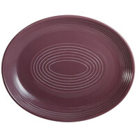 CAC TG-13C-PLM Tango 11 1/2 inch x 9 1/4 inch Plum Coupe Oval Platter - 12/Case