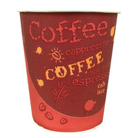 Choice 12 oz. Paper Hot Cup with Coffee Design 1000 / Case
