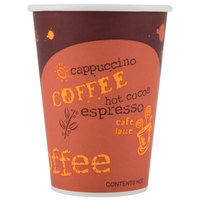 Choice 12 oz. Poly Paper Hot Cup with Coffee Design - 1000/Case