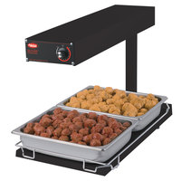 Hatco GRFFBI Glo-Ray Bold Black 12 3/4 inch x 24 inch Portable Food Warmer with Infinite Controls and Heated Base - 120V, 750W