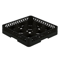 Vollrath TR10 Traex Full-Size Black 9-Compartment 3 1/4 inch Glass Rack