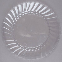 WNA Comet CW75180 Classicware 7 1/2 inch Clear Plastic Plate - 18/Pack