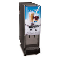 Bunn 37900.0009 JDF-2S 2 Flavor Cold Beverage Iced Coffee Dispenser with Lit Door - 120V
