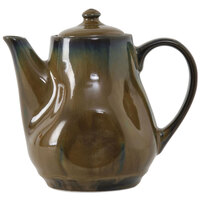 Tuxton GAJ-101 Artisan Mojave 17 oz. China Tea Pot with Lid - 12 / Case