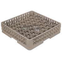 Vollrath TR13JJJJ Traex Rack Max Full-Size Beige 12-Compartment 6 3/4 inch Glass Rack