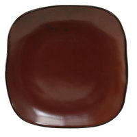 Tuxton GAR-500 Artisan Red Rock 7 1/4 inch Square China Plate - 12 / Case