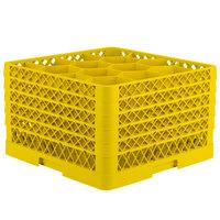 Vollrath TR18JJJJJ Traex Rack Max Full-Size Yellow 12-Compartment 11 7/8 inch Glass Rack