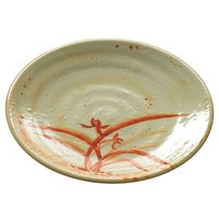 Thunder Group 1708 Gold Orchid 8 1/4 inch Round Melamine Plate - 12/Pack