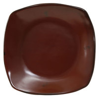 Tuxton GAR-503 TuxTrendz Artisan Red Rock 21 oz. 10 1/2 inch Coupe Square China Pasta Plate - 12/Case