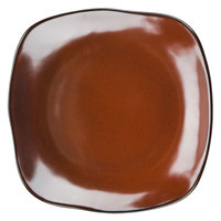 Tuxton GAR-502 TuxTrendz Artisan Red Rock 11 inch Square China Plate - 12/Case