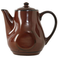Tuxton GAR-101 Artisan Red Rock 17 oz. China Tea Pot with Lid - 12 / Case