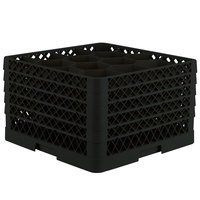 Vollrath TR18JJJJJ Traex Rack Max Full-Size Black 12-Compartment 11 7/8 inch Glass Rack