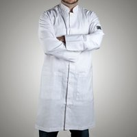 Chef Revival J034-XL Knife and Steel Size 48 (XL) Customizable Knee Length Tech Coat - Poly-Cotton Blend