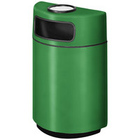 Rubbermaid FGH2436SU Half Round Open Front Bright Green Fiberglass Waste Receptacle with Rigid Plastic Liner and Sand Urn Cap Ash Tray 18 Gallon (FGFGH2436SUPLBGN)