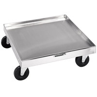 Lakeside 447 Stainless Steel Glass / Dish Rack Dolly - 20 3/4 inch x 20 3/4 inch x 6 1/4 inch