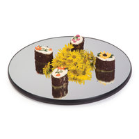 Geneva 271 12 inch Round Rimless Mirror Food Display Tray