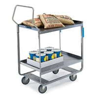 Lakeside 4543 Handler Series Stainless Steel Two Shelf Heavy Duty Utility Cart - 38 3/8 inch x 22 3/8 inch x 49 1/8 inch