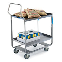 Lakeside 4521 Handler Series Stainless Steel Two Shelf Heavy Duty Utility Cart - 32 5/8 inch x 19 3/8 inch x 46 1/2 inch