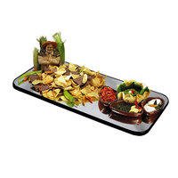 Geneva 263 Rectangular Rimless Mirror Food Display Tray - 24 inch x 48 inch