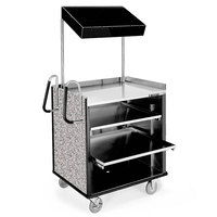 Lakeside 660 4 Shelf Stainless Steel Compact Vending Cart with Gray Sand Laminate Finish - 28 1/4 inch x 49 inch x 72 1/4 inch