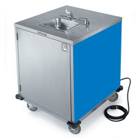 Lakeside 9600 Portable Self-Contained Stainless Steel Hand Sink Cart with Cold Water Faucet, Soap Dispenser, and Royal Blue Finish - 115V