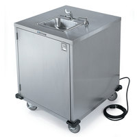 Lakeside 9600 Portable Self-Contained Stainless Steel Hand Sink Cart with Cold Water Faucet and Soap Dispenser - 115V