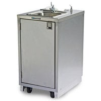 Lakeside 9620 Portable Self-Contained Stainless Steel Hand Sink Cart with Hot Water Faucet and Soap Dispenser - 120V