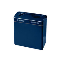 Rubbermaid FGR3418 Recycling Centers Navy Blue Fiberglass Large Capacity 2-Section Paper/Trash Recycling Center with Rigid Plastic Liner (2) 23 Gallon (FGFGR3418TPPLNBL)