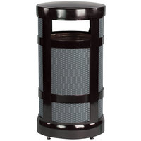 Rubbermaid FGA17 Architek Radius Top Black Steel Waste Container with Rigid Plastic Liner 17 Gallon (FGA17BKPL)