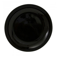 10 Strawberry Street BCP0001 Black Coupe Black 10 inch Plate - 24/Case