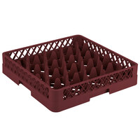 Vollrath TR11A Traex Rack Max Full-Size Burgundy 20-Compartment 4 13/16 inch Glass Rack with Open Rack Extender On Top