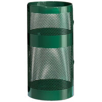 Rubbermaid FGH9N Towne Series Empire Green Perforated Steel Pole/Wall Mount with Drain Holes 22 Gallon (FGH9NEGN)