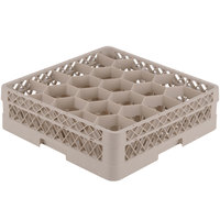 Vollrath TR11A Traex Rack Max Full-Size Beige 20-Compartment 4 13/16 inch Glass Rack with Open Rack Extender On Top