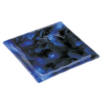10 Strawberry Street HD2584B Izabel Lam Cumulus 11 inch Blue Glass Square Plate - 12 / Case