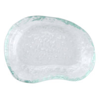 10 Strawberry Street HD2503OC Izabel Lam Morning Tide 3 1/2 inch x 4 1/2 inch Ocean Clear Glass Elliptical Dish - 48/Case