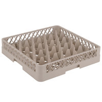 Vollrath TR11 Traex Rack Max Full-Size Beige 20-Compartment 3 1/4 inch Glass Rack