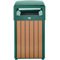 Rubbermaid FGR34HT50 Regent 50 Series Hinged-Top Empire Green Steel and Polyethylene Square Waste Receptacle with Rigid Plastic Liner 29 Gallon (FGR34HT50PLEGN)