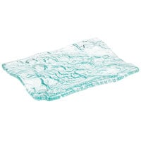 10 Strawberry Street HD2956OC Izabel Lam Morning Tide 7 1/2 inch x 10 inch Ocean Clear Thick Fused Glass Platter - 12 / Case