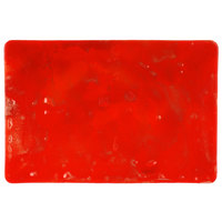 10 Strawberry Street HD922RO Izabel Lam Heirloom 8 inch x 12 inch Red Glass Rectangular Plate - 12/Case