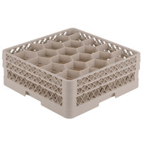 Vollrath TR11GG Traex Rack Max Full-Size Beige 20-Compartment 6 3/8 inch Glass Rack