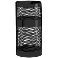 Rubbermaid FGH9N Towne Series Black Perforated Steel Pole/Wall Mount with Drain Holes 22 Gallon (FGH9NBK)