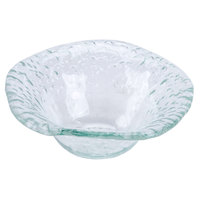 10 Strawberry Street HD2718OC Izabel Lam Morning Tide 5 3/8 inch Ocean Clear Glass Irregular Round Bowl - 48/Case