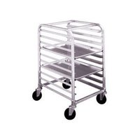 Winholt AL-1810/HKD 10 Pan End Load Half Height Aluminum Bun / Sheet Pan Rack - Unassembled