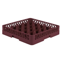 Vollrath TR6 Traex Full-Size Burgundy 25-Compartment 3 1/4 inch Glass Rack
