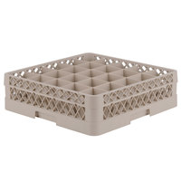 Vollrath TR6B Traex Full-Size Beige 25-Compartment 4 13/16 inch Glass Rack
