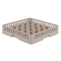 Vollrath TR6 Traex Full-Size Beige 25-Compartment 3 1/4 inch Glass Rack
