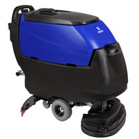 Pacific 875407 S-24 24 inch Walk Behind Auto Floor Scrubber with Transaxle Drive - 260AH Batteries with Charger, BatteryShield, and HydroLink