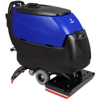 Pacific 875429 S-28 28 inch Walk Behind Orbital Auto Floor Scrubber with Transaxle Drive and Chemical Injection - 250AH Maintenance Free AGM Batteries with Charger
