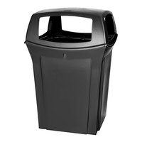 Rubbermaid FG917388 Ranger Black Container with 4 Openings 45 Gallon (FG917388BLA)