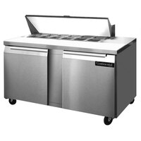 Continental Refrigerator SW60-12 60 inch Two Door Refrigerated Sandwich / Salad Prep Table - 12 Pans